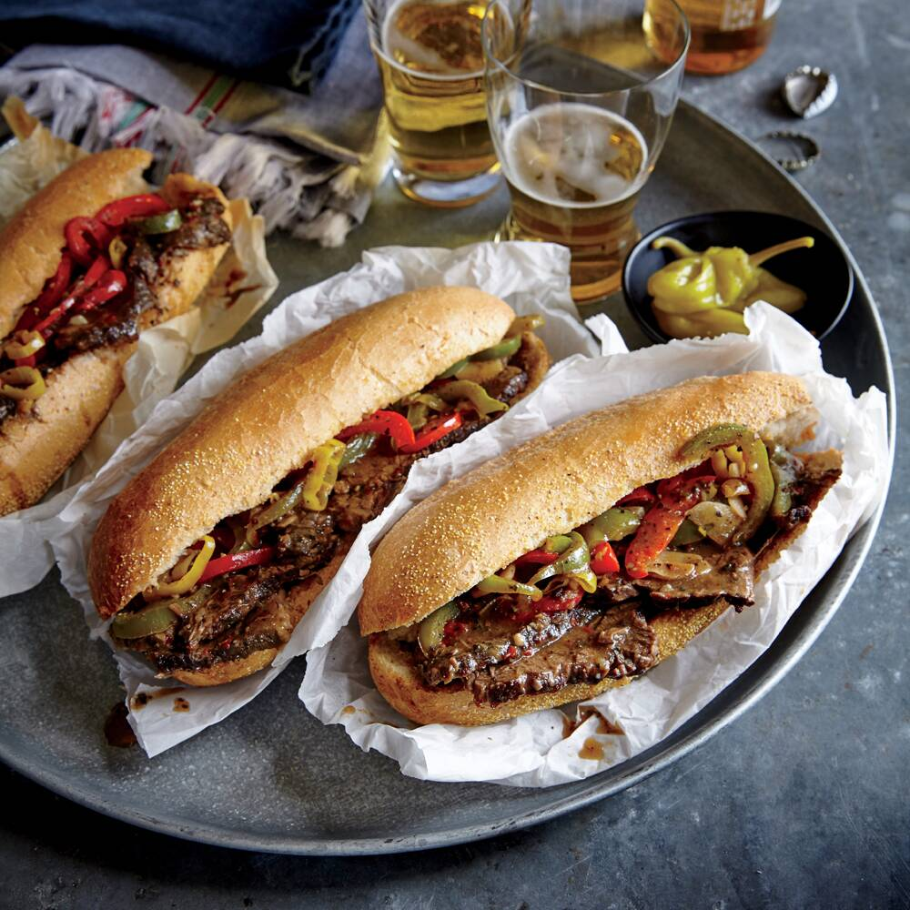 chicago style italian beef hoagies recipe myrecipes