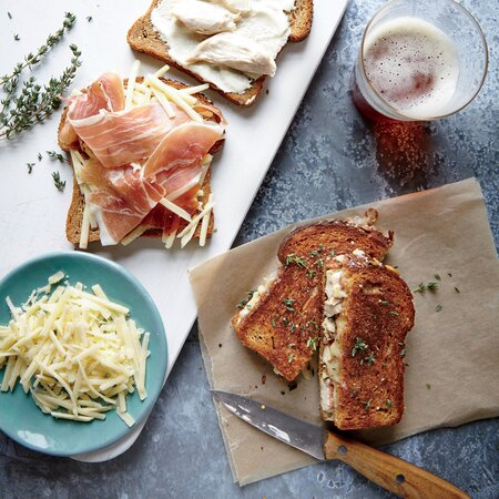 Chicken Cordon Bleu Grilled Cheese Sandwiches Recipe Myrecipes
