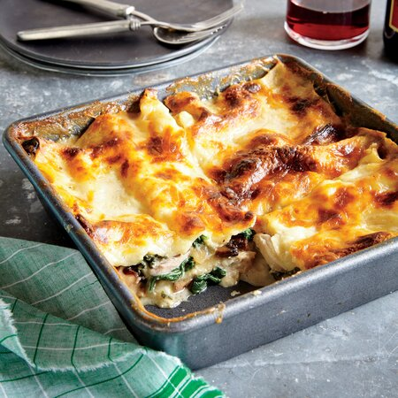 Chicken Spinach And Mushroom Lasagna Recipe Myrecipes