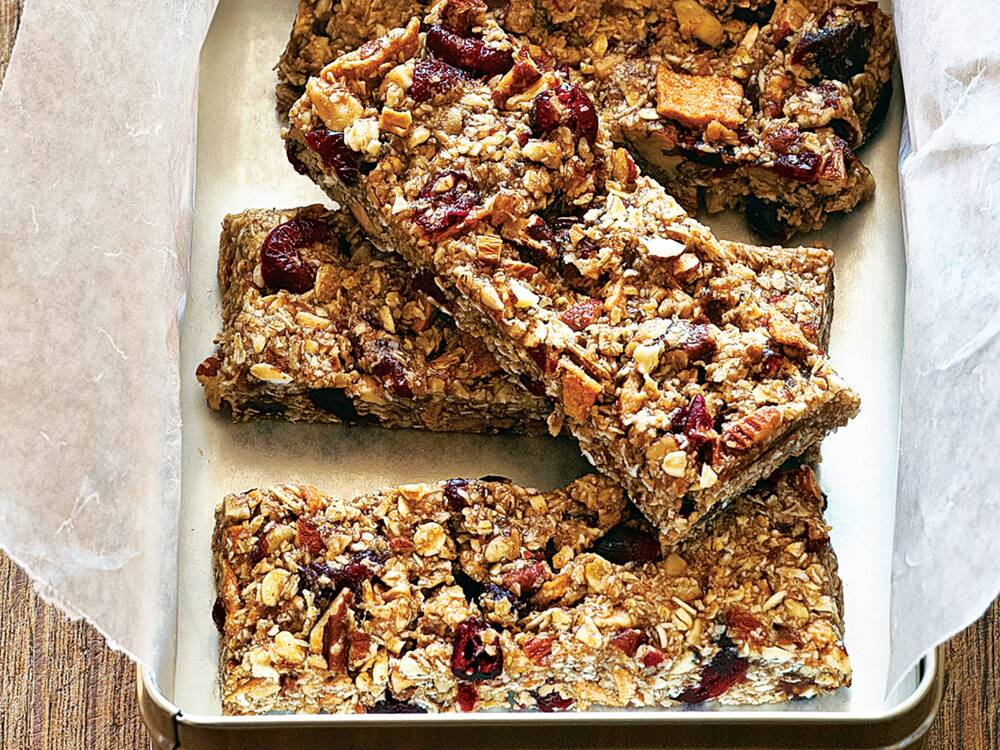 Fruit and Nut Chewy Bars Recipe | MyRecipes