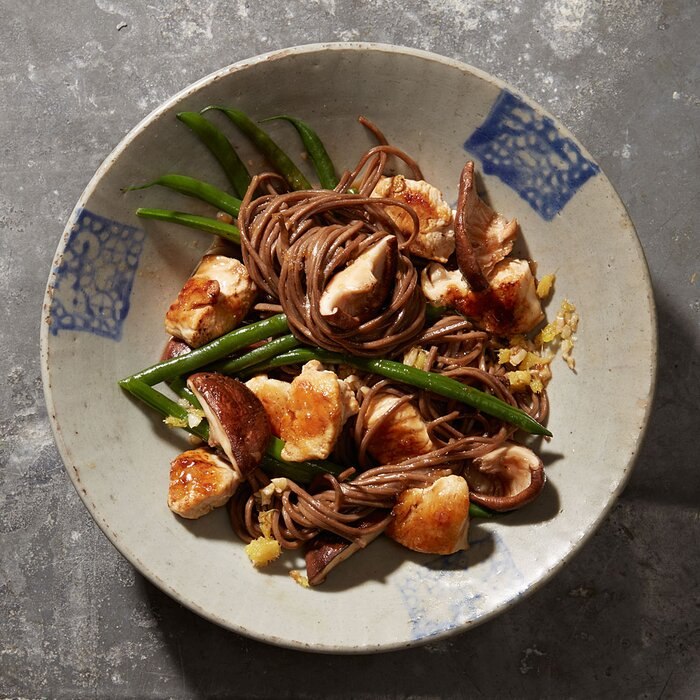 Ginger chicken with shiitakes and green beans recipe myrecipes ginger chicken with shiitakes and green beans forumfinder Image collections
