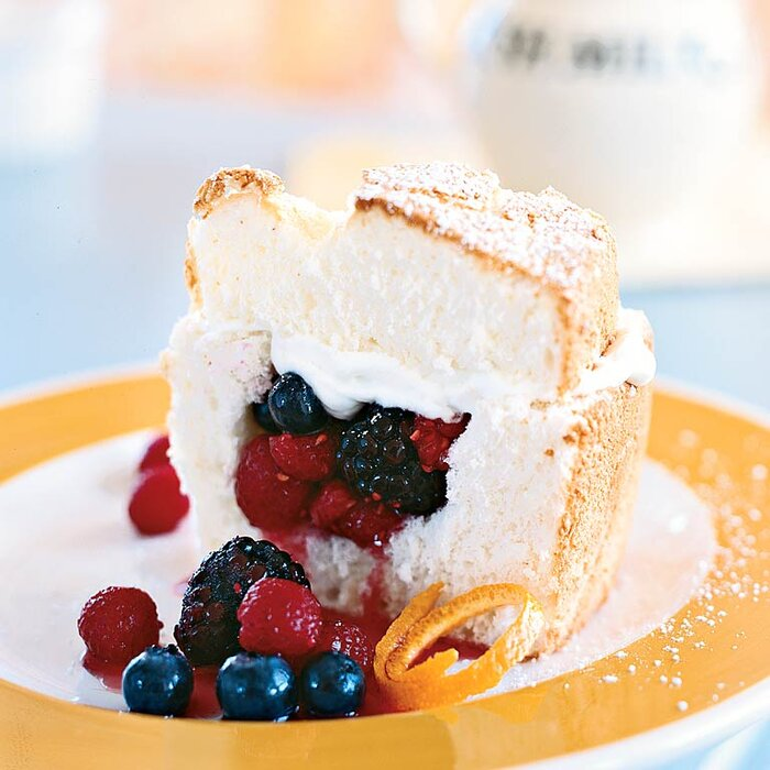 Angel food cake stuffed whipped cream berries recipe myrecipes angel food cake stuffed with whipped cream and berries forumfinder Image collections