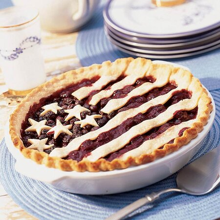 Old Glory Cherry Blueberry Pie