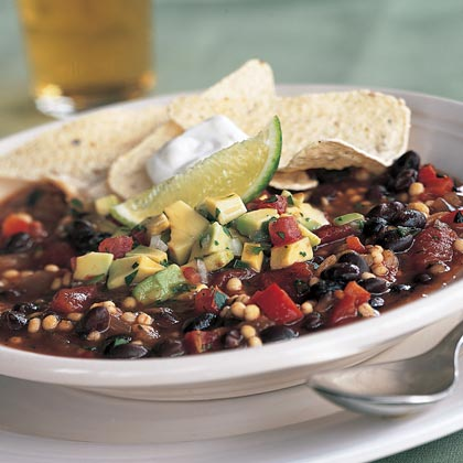 Quick Vegetarian Chili With Avocado Salsa Recipe Myrecipes