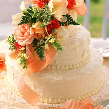 Fresh Orange Wedding Cake