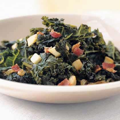 Braised kale with bacon and cider recipe myrecipes braised kale with bacon and cider forumfinder Gallery