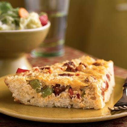 Cajun Quiche In A Rice Crust Recipe Myrecipes