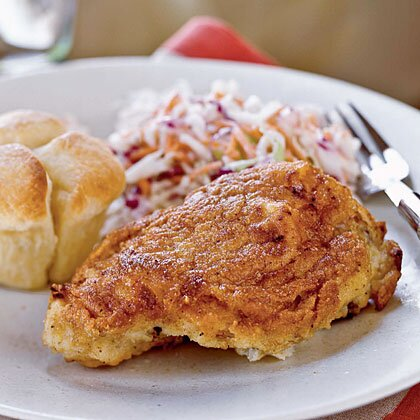 Buttermilk Oven Fried Chicken With Coleslaw Recipe Myrecipes