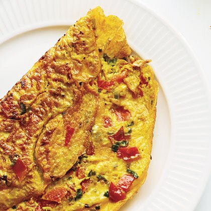 Omelet With Turmeric Tomato And Onions Recipe Myrecipes