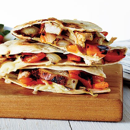 Grilled Chicken And Vegetable Quesadillas Recipe Myrecipes
