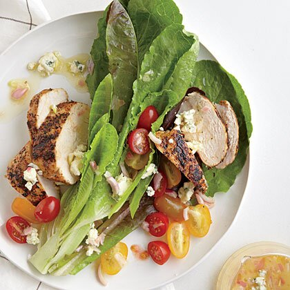 Blackened Chicken Salad Blue Cheese Vinaigrette Recipe Myrecipes