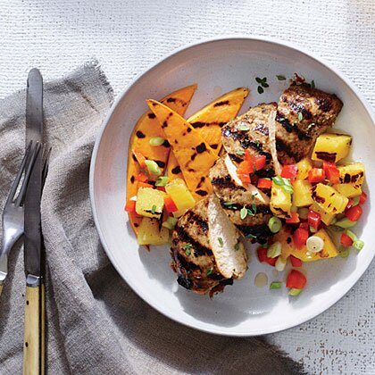 Jerk Chicken With Grilled Pineapple Salsa Recipe Myrecipes