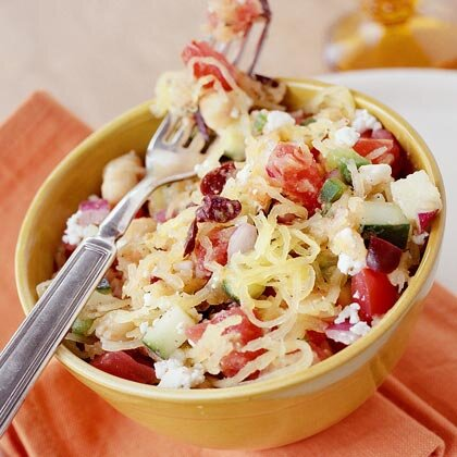 Greek Style Salad With Spaghetti Squash Recipe Myrecipes
