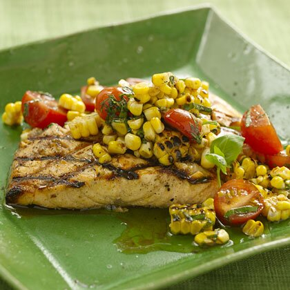 Grilled Salmon With Charred Corn Relish