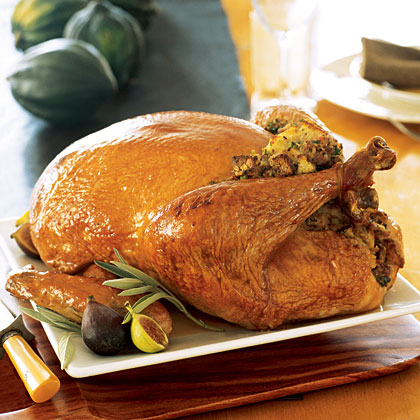 Roast Turkey With Sage Stuffing And Gravy Recipe Myrecipes