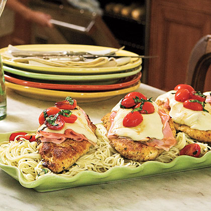 Pan Fried Chicken And Ham Parmesan Recipe Myrecipes