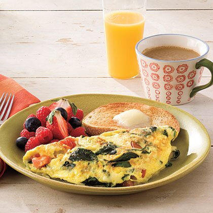 Spinach And Cheese Omelet Recipe Myrecipes