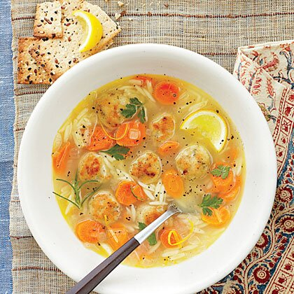 Lemon Orzo And Meatball Soup Recipe Myrecipes