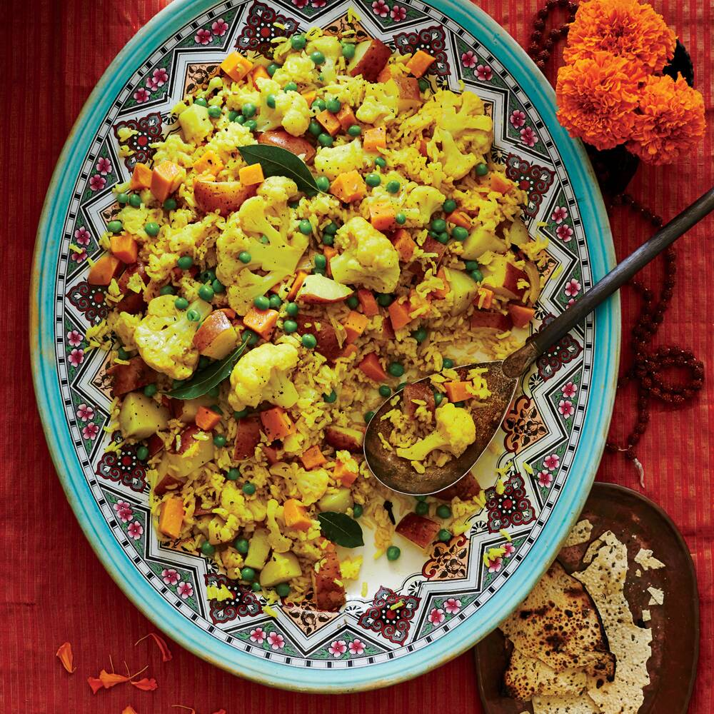 10 indian inspired recipes to try this diwali myrecipes tahiree vegetable and rice casserole forumfinder Image collections