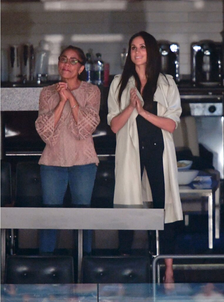 Meghan Markle with mom Doria Radlan