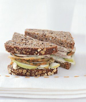 Turkey Sandwiches With Apple and Walnut Mayo