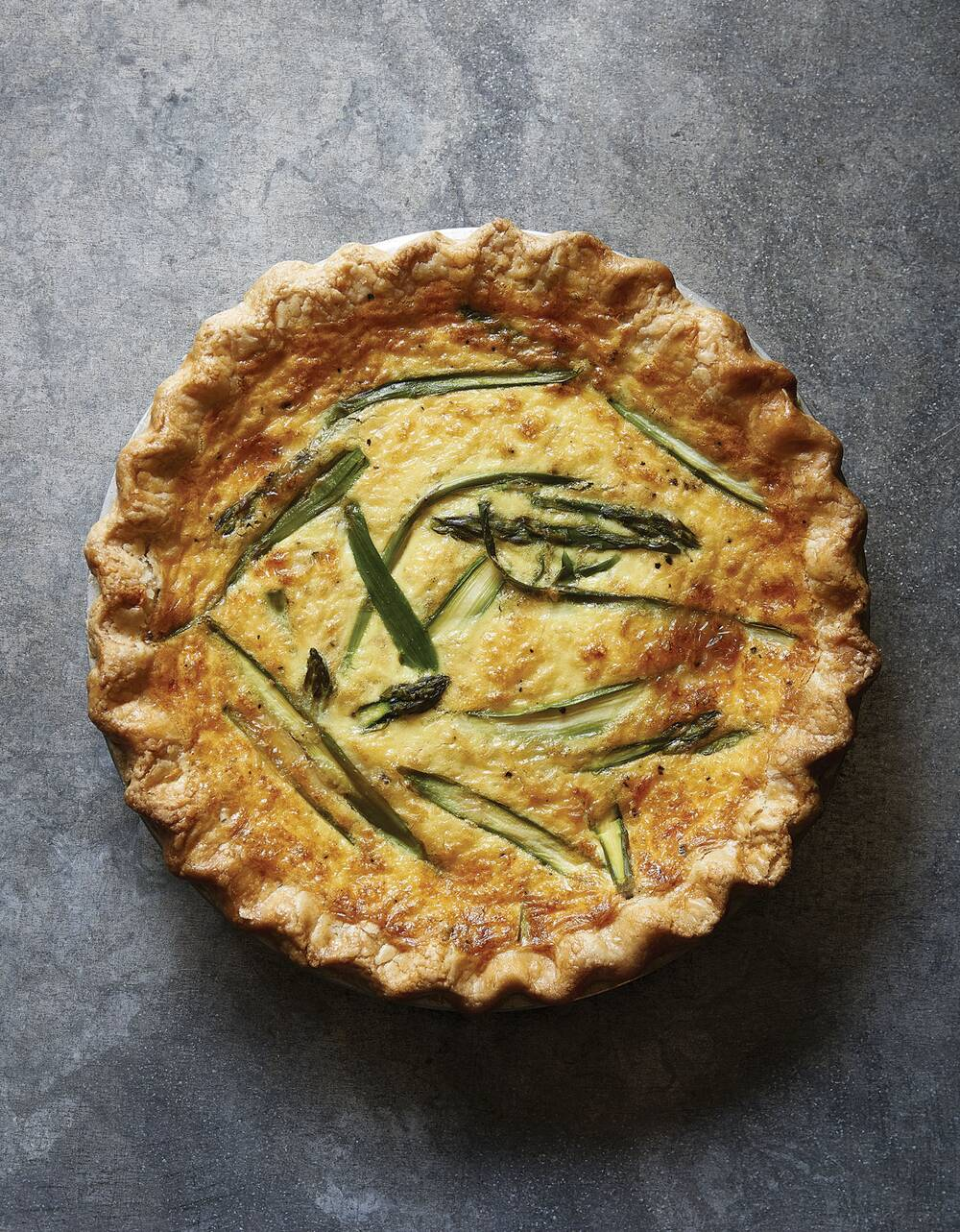 Joanna Gainess Asparagus Fontina Quiche Recipe Real Simple