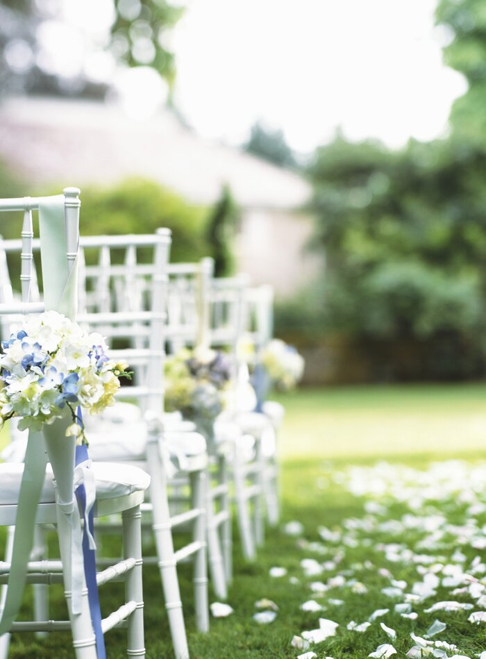 11 little tricks for a stress free wedding day real simple chairs at wedding junglespirit Choice Image