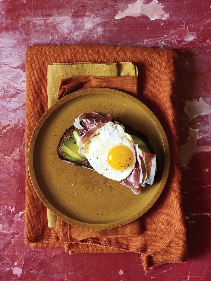 23 of the best real simple recipes ever real simple avocado prosciutto and egg open faced sandwich forumfinder Gallery