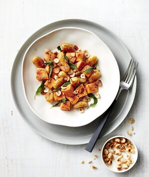 21 easy pasta recipes real simple gnocchi and sweet potatoes with hazelnuts forumfinder Image collections