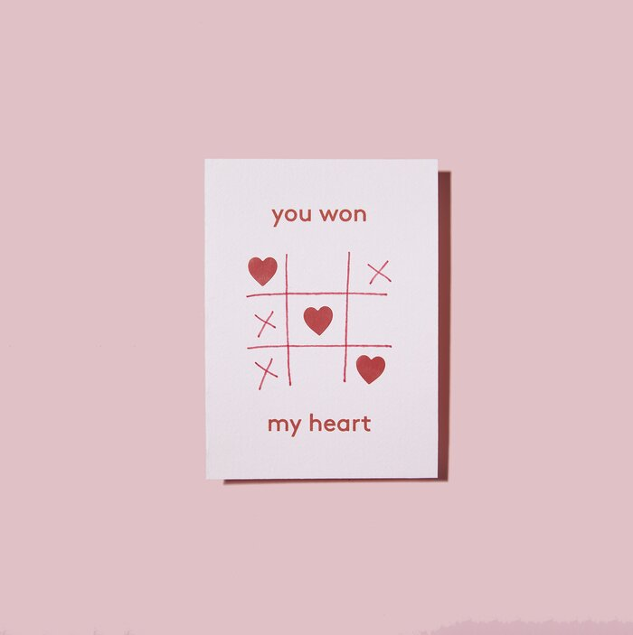 Creative homemade valentines card ideas real simple you won my heart card solutioingenieria Image collections
