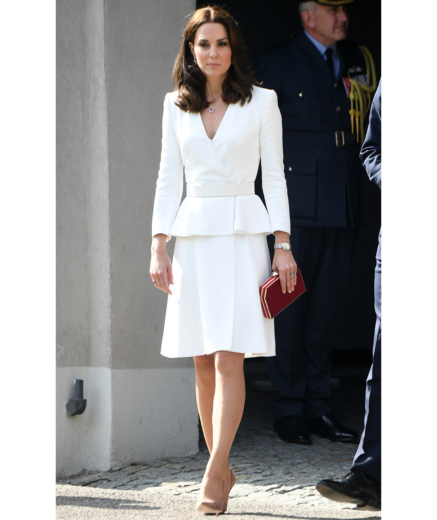 Princess Kate in white suit