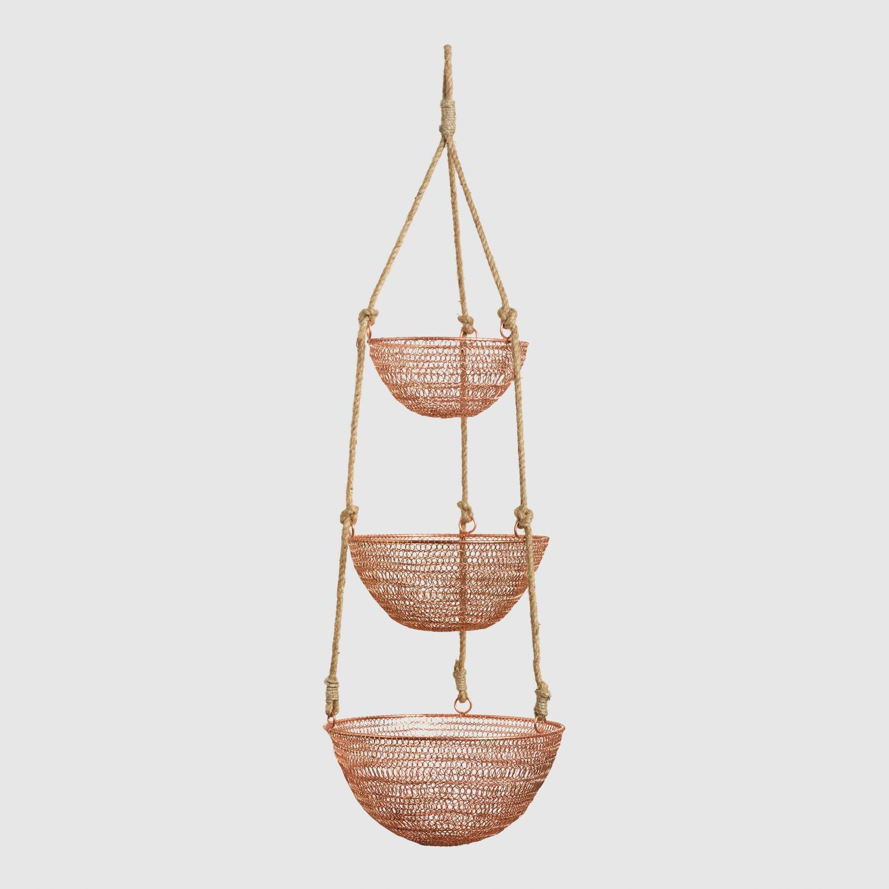Copper and Rope Baskets