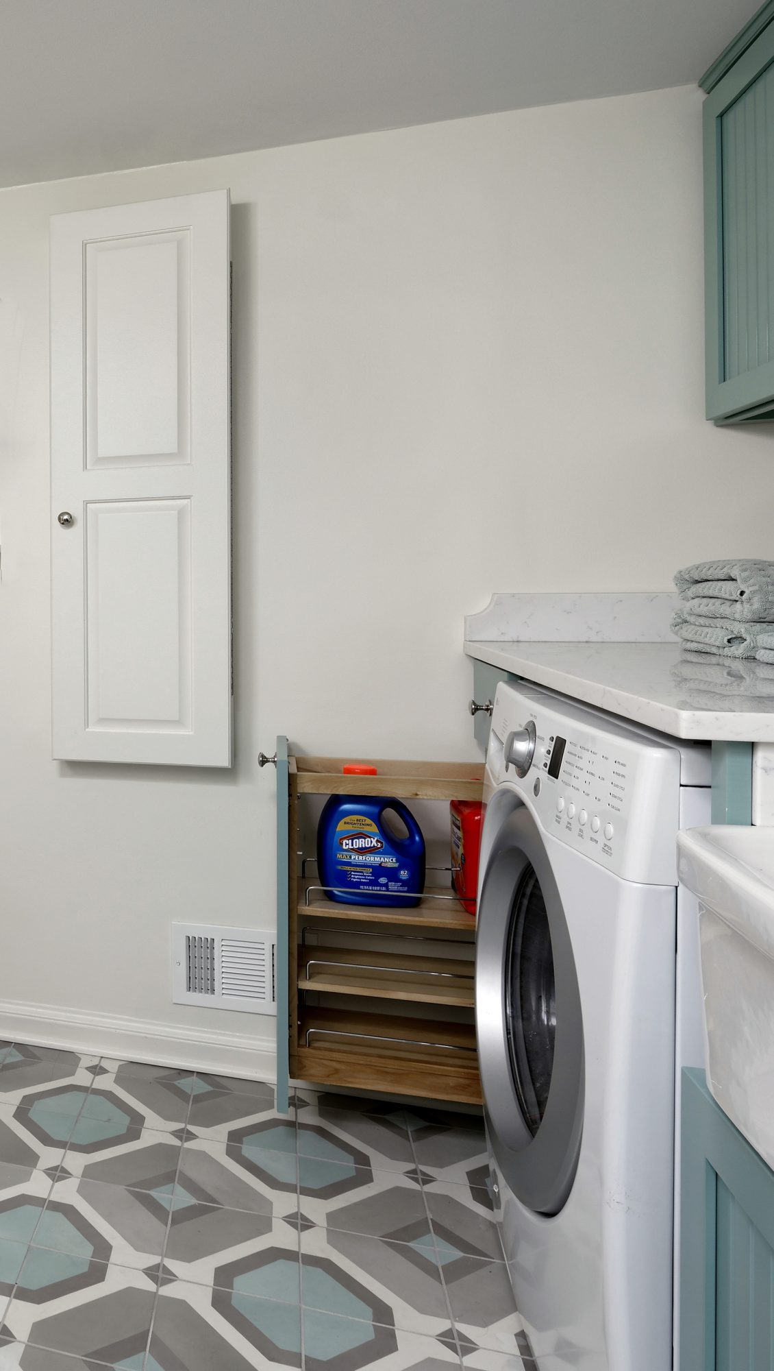 Laundry Room Pull-Out Cabinet