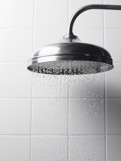 Water falling from shower head