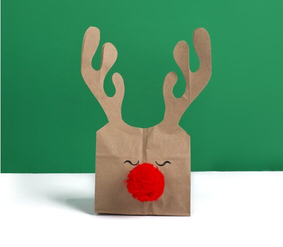 8 diy gift bags real simple reindeer gift bag negle Image collections