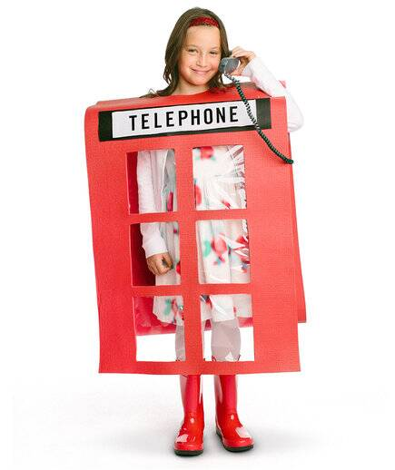 the costume british telephone booth