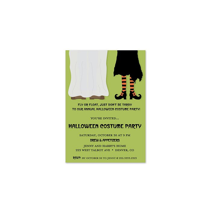 12 halloween party invitations real simple costume pair invitation stopboris Images