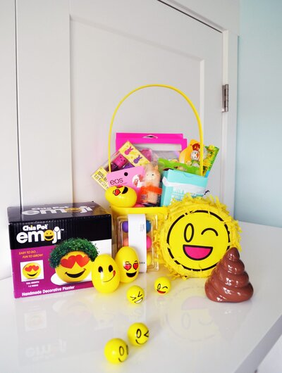 6 easter basket ideas for kids teenagers and adults emoji mania negle Image collections