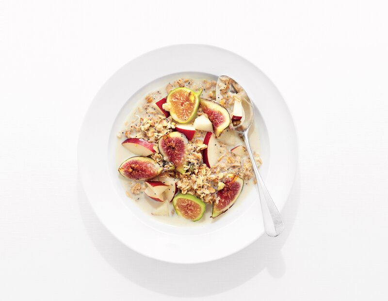 Toasted Pistachio Muesli With Apple and Fig