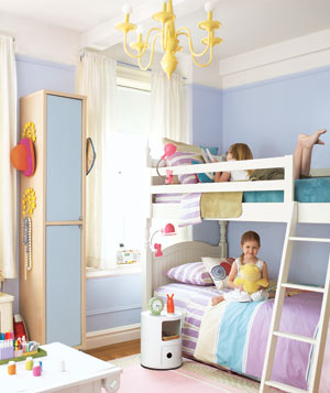 decor for kids bedroom. Two Girls On Bunk Beds In An Organized Clean Children\u0027s Room Decor For Kids Bedroom R