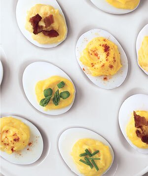 Hard boiled egg recipe ideas real simple deviled eggs four ways forumfinder Gallery
