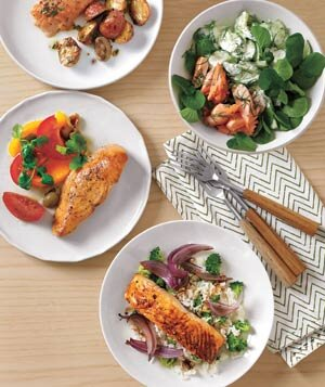Salmon four ways real simple four salmon dishes forumfinder Choice Image