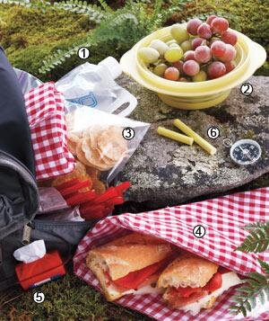 Tasty picnic recipes and menu ideas real simple picnic for a hike forumfinder Image collections