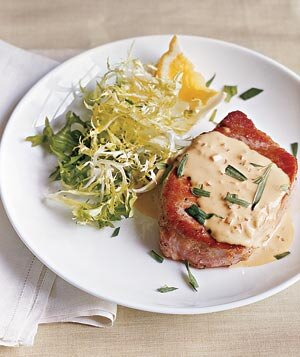 10 delicious recipes for leftover wine real simple pork chops with mustard sauce forumfinder Choice Image