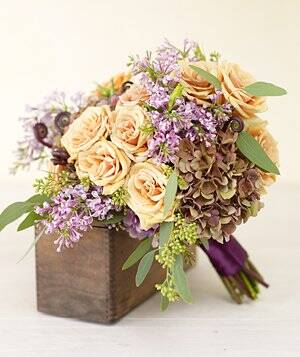 Purple wedding flowers real simple bouquet of purple hydrangea mightylinksfo