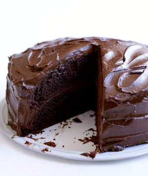 Classic chocolate layer cake recipe real simple classic chocolate layer cake forumfinder Images
