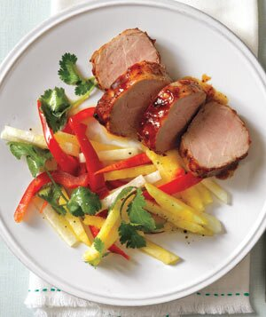 Best heart healthy recipes real simple glazed pork tenderloin with pineapple slaw forumfinder Choice Image