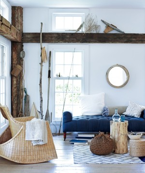Beach Decorating Ideas easy, beach-inspired decorating ideas | real simple