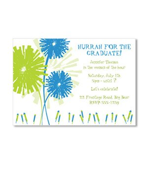 10 great graduation party invitations real simple fireworks graduation card stopboris Images