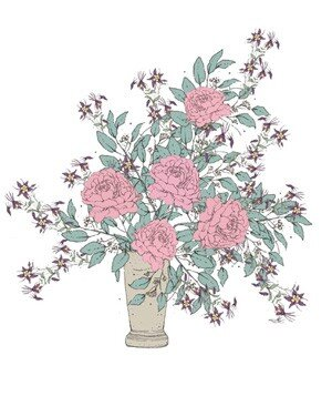Easy flower arrangements real simple illustration of bouquet with pink flowers and wispy elements mightylinksfo
